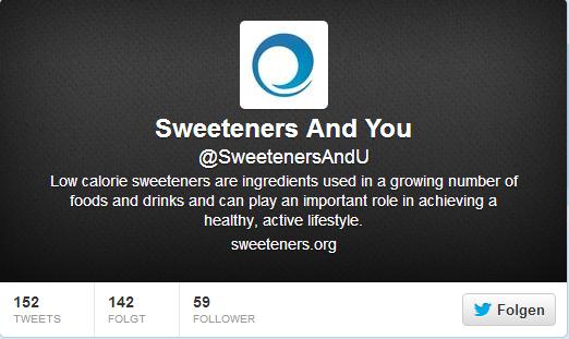 Neu: Süßstoff-Infos per Twitter